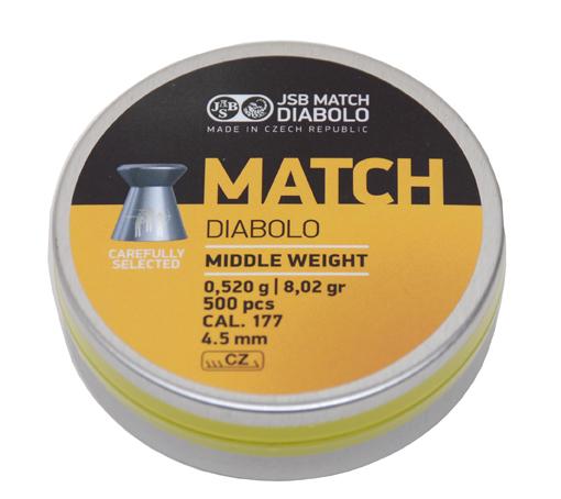 "JSB Diabolo ""Yellow Match""  - 0,520g - Luftgewehr"