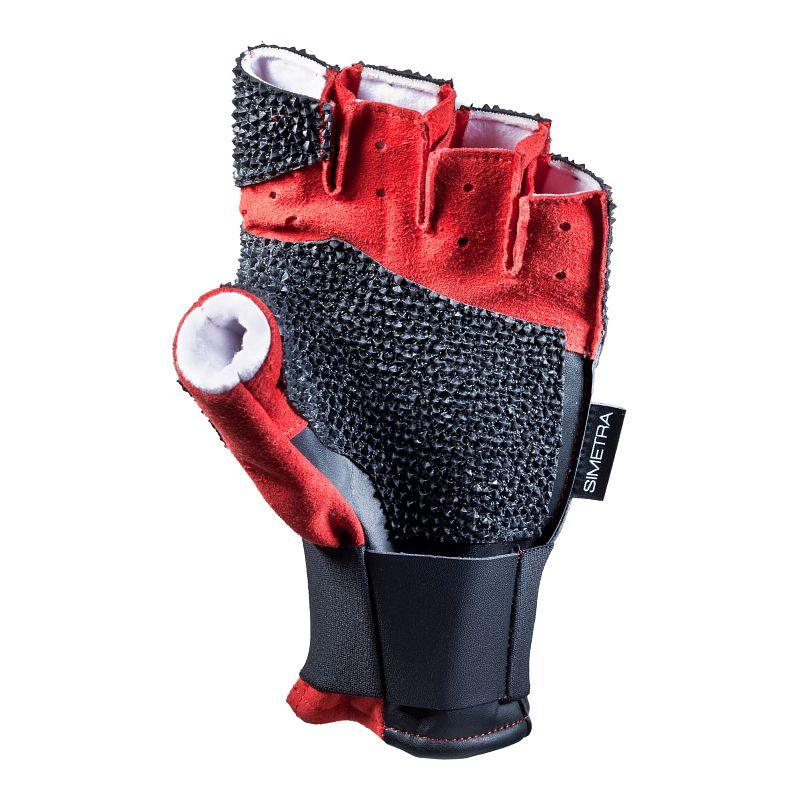 Schießsporthandschuh Simetra PRIMOFIT 10 - Schwarz/Rot