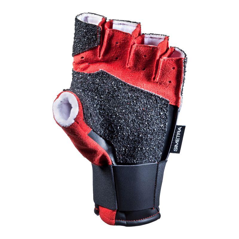 Schießsporthandschuh Simetra PRIMOFIT 20 - Schwarz/Rot
