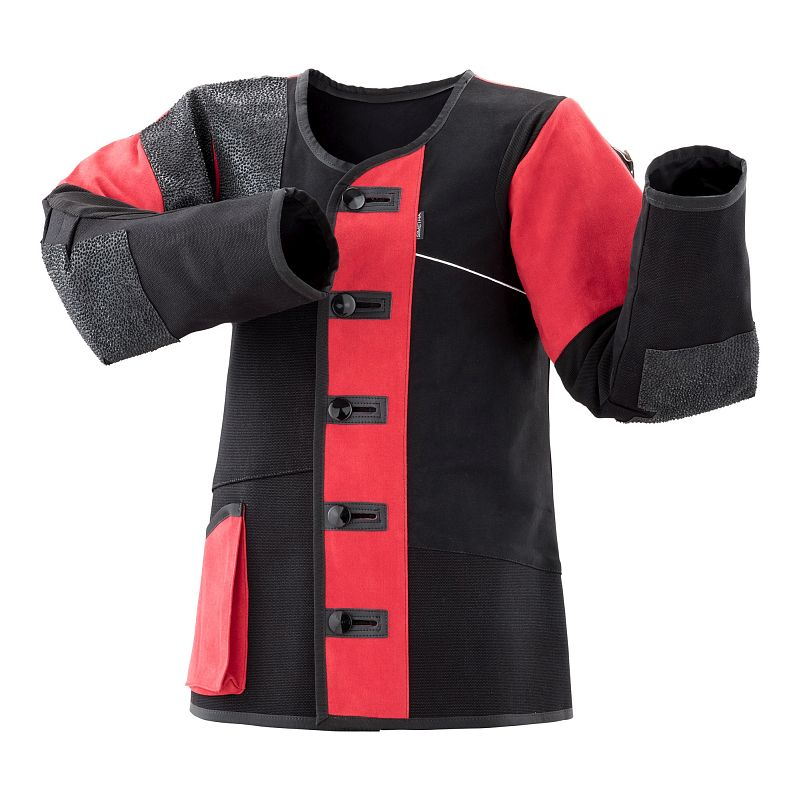 Schießsportjacke Simetra PRIMOFIT 10 - schwarz/rot