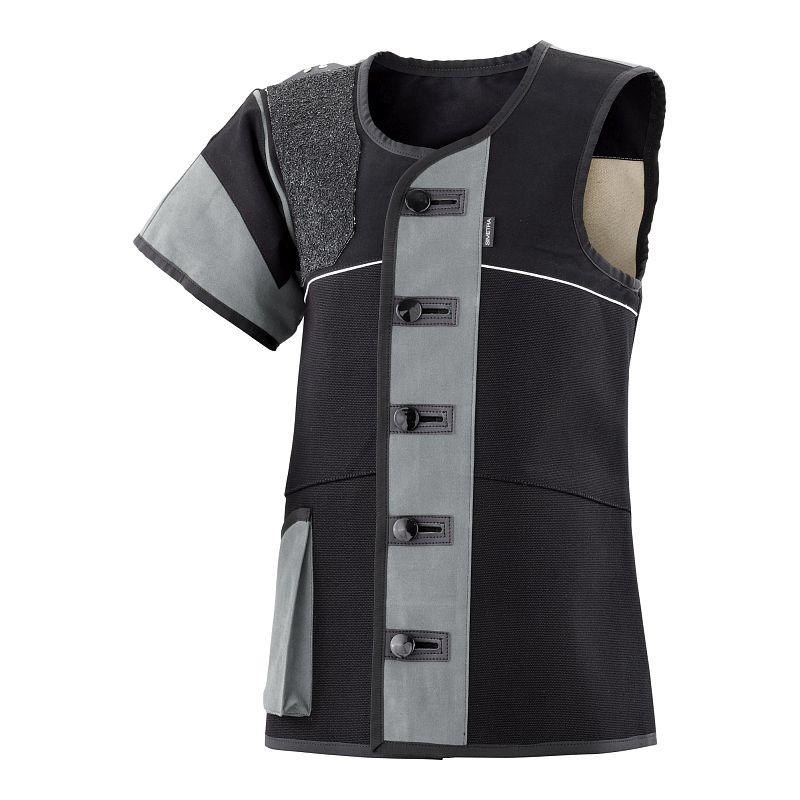 Auflage-Schießsportweste Simetra PRIMOFIT 10 - schwarz/grau