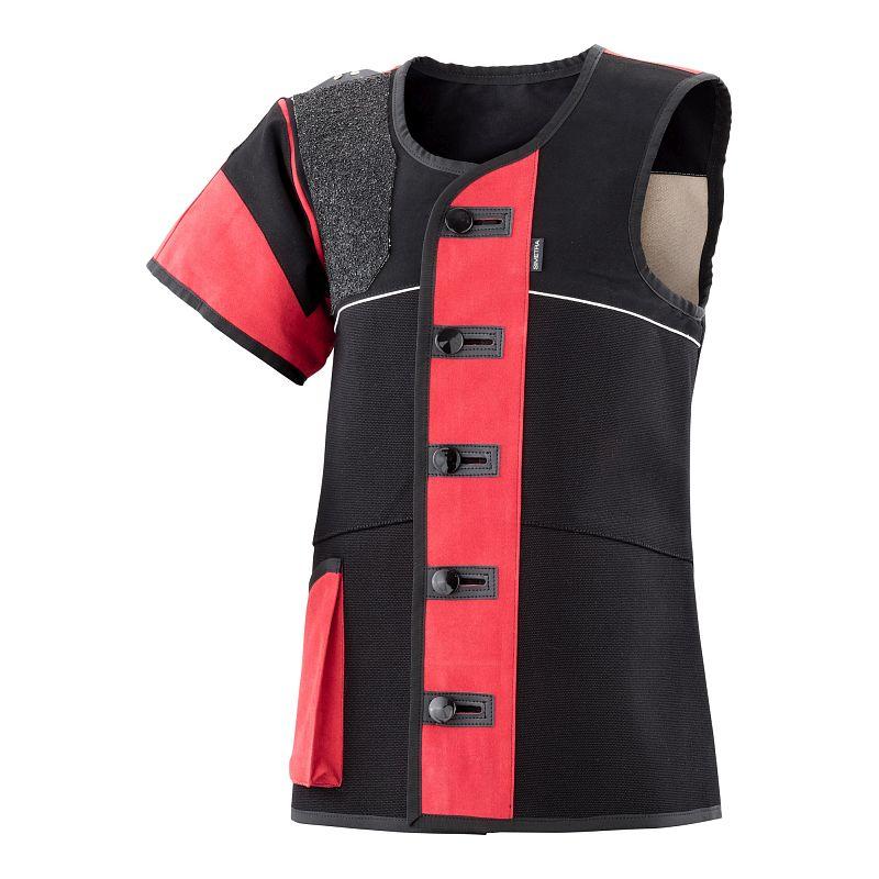 Auflage-Schießsportweste Simetra PRIMOFIT 10 - schwarz/rot