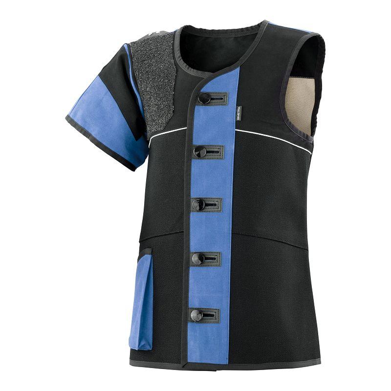 Auflage-Schießsportweste Simetra PRIMOFIT 10 - schwarz/blau