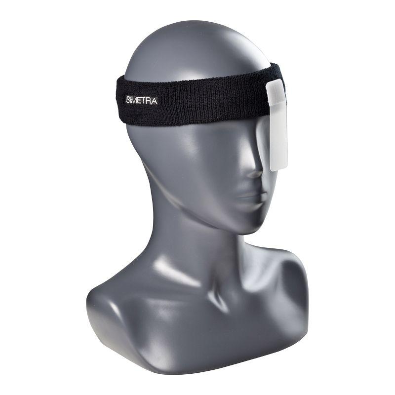 Stirnband mit Augenblende Simetra PRIMOFIT 10 - Schwarz
